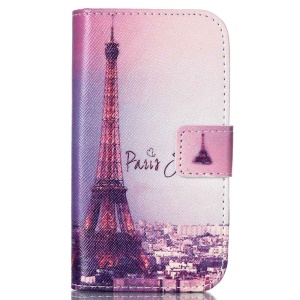 Wallet Leather Cover for Samsung Galaxy Trend Lite S7390 S7392 - Paris Eiffel Tower