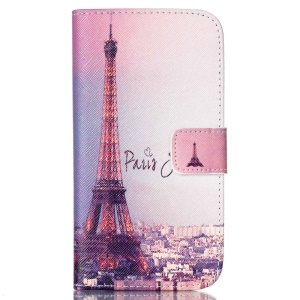 Wallet Leather Stand Case Cover for Samsung Galaxy J5 SM-J500F - Eiffel Tower