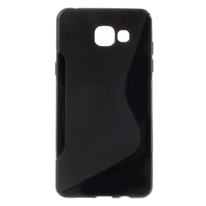 S Shape TPU Cover Case for Samsung Galaxy A5 SM-A510F (2016) - Black