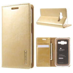 MERCURY GOOSPERY Blue Moon Leather Stand Cover for Samsung Core Prime G360 - Gold