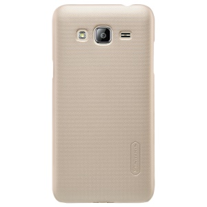 NILLKIN Super Frosted Shield PC Back Case para Samsung Galaxy J3(2016) / J3 - ouro