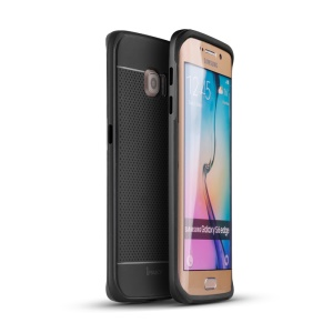 IPAKY Hybrid 2-in-1 PC + TPU Cover Case for Samsung Galaxy S6 Edge G925 - Grey