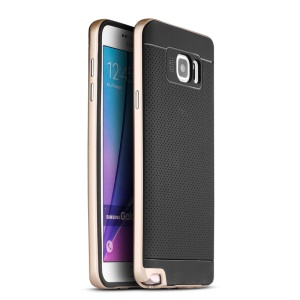 IPAKY Combo PC TPU Phone Case for Samsung Galaxy Note5 SM-N920 - Gold