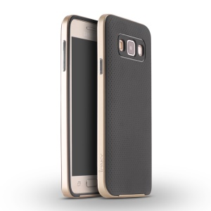 IPAKY 2-in-1 PC TPU Phone Cover for Samsung Galaxy A3 SM-A300F - Gold