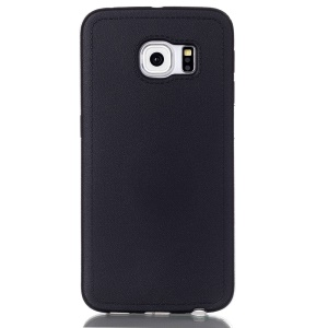Solid Color TPU Cover Case for Samsung Galaxy S6 Edge G925 - Black