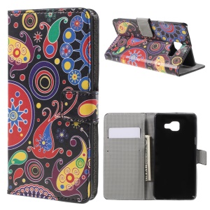 Stand Leather Case for Samsung Galaxy A5 SM-A510F (2016) - Paisley Pattern