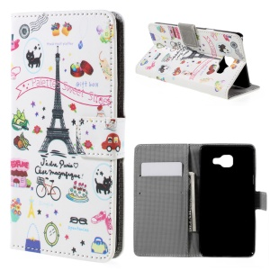 Leather Card Slot Stand Case for Samsung Galaxy A5 SM-A510F - Palettes Sweet Street