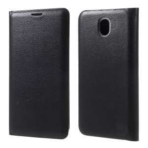 Flip Leather Card Holder Case for Samsung Galaxy J7 2017 EU/Asia Version - Black