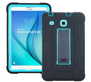 Detachable 2-in-1 Shock Proof Anti-dust Protective TPU + PC Kickstand Cover  Case for Samsung Galaxy Tab E 8.0 T375 - Blue
