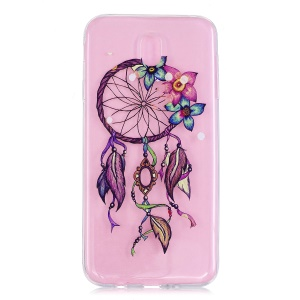 Embossed Pattern Clear TPU Soft Case for Samsung Galaxy J7 (2017) EU Version - Dream Catcher