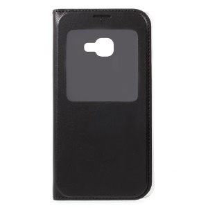 View Window Leather Phone Cover for Samsung Galaxy Xcover 4s / Xcover 4 - Black