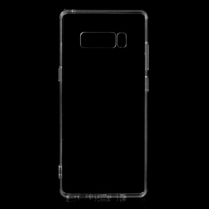 Crystal Clear Acrylic + Flexible TPU Hybrid Phone Case for Samsung Galaxy Note 8 - Transparent