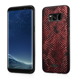 XOOMZ Snake Texture PU Leather Coated TPU Mobile Case for Samsung Galaxy S8 G950 - Red