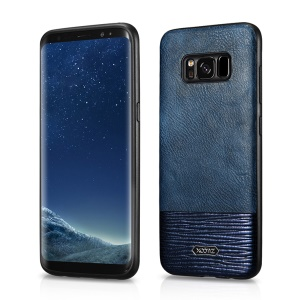 XOOMZ PU Leather Coated TPU Protective Mobile Case for Samsung Galaxy S8 G950 - Blue