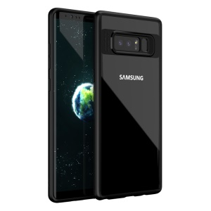 IPAKY Hybrid TPU Frame + Clear Acrylic Back Case for Samsung Galaxy Note 8 - Black