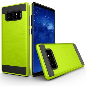 2-in-1 Drop-proof Brushed PC + TPU Mobile Shell for Samsung Galaxy Note 8 - Green