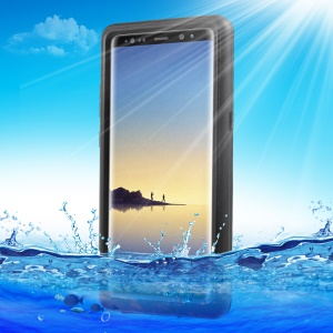 IP68 Shockproof Dirtproof Snowproof Waterproof Slim Case for Samsung Galaxy Note 8 - Black