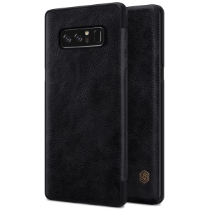 NILLKIN Qin Series Card Holder Leather Flip Case para Samsung Galaxy Note 8 - negro