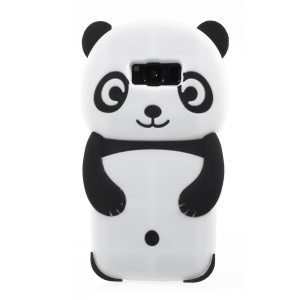 Cute Panda Patterned 3D Silicone Shell Case for Samsung Galaxy S8 G950 - Black