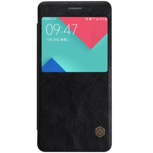 NILLKIN Qin Series Window View Leather Case for Samsung Galaxy A5 A510F (2016) - Black