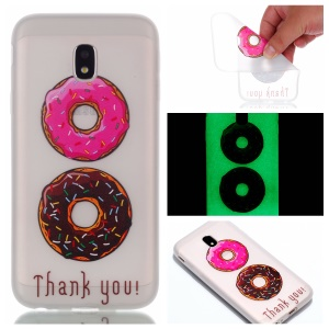Pattern Printing Luminous TPU Phone Case for Samsung Galaxy J3 (2017) EU Version / J3 Pro (2017) - Donuts