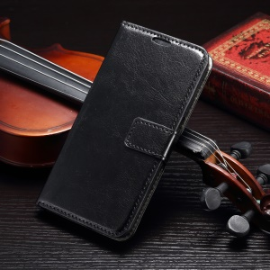 Crazy Horse Wallet Leather Case for Samsung Galaxy S7 Edge - Black