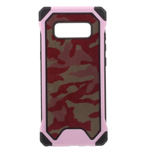 Camouflage Leather Coated PC TPU Hybrid Shell para Samsung Galaxy Note 8 SM-N950 - recortar