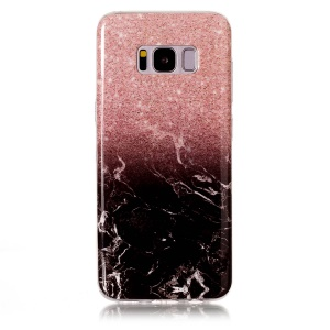 Marble Pattern IMD TPU Jelly Casing for Samsung Galaxy S8 G950 - Black / White / Pink
