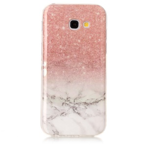 Marble Pattern IMD TPU Jelly Case for Samsung Galaxy A5 (2017) A520 - Pink / White