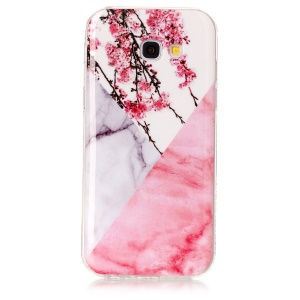 Marble Pattern IMD Flexible TPU Case Shell for Samsung Galaxy A5 (2017) A520 - Plum