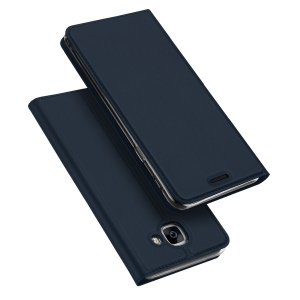 DUX DUCIS Skin Pro Series Card Slot Stand Leather Shell for Samsung Galaxy J7 Max - Dark Blue