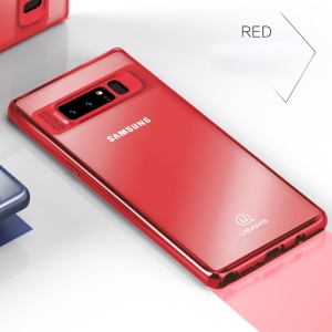 USAMS Mant Series Clear PC + TPU Frame Mobile Case for Samsung Galaxy Note 8 N950 - Red