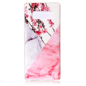 Marble Pattern IMD TPU Soft Case Shell for Samsung Galaxy Note 8 SM-N950 - Plum