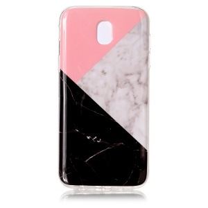 Marble Pattern IMD TPU Jelly Cellphone Case for Samsung Galaxy J5 Pro (2017) / J5 (2017) EU Version - Black / White / Pink