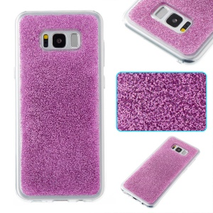 Bling Dynamic Glitter Floating TPU Mobile Shell for Samsung Galaxy S8 Plus G955 - Purple