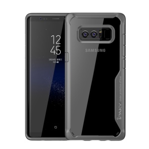 IPAKY anti-Drop Clear PC + Tampa do telefone TPU para Samsung Galaxy Note 8 N950 - cinza