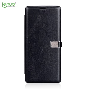 LENUO Crazy Horse PU Leather Card Holder Phone Shell para Samsung Galaxy Note 8 N950 - Preto