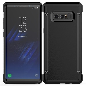 Beetle Combo PC + TPU Shock Resistant Phone Case for Samsung Galaxy Note 8 SM-N950 - Black Edge / Black Back