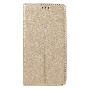 GEBEI for Samsung Galaxy S7 G930 Litchi Skin Leather Card Holder Stand Shell - Gold