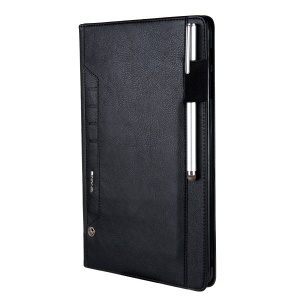 CMAI2 Leather Card Holder Stand Case for Samsung Galaxy Tab A 10.1 (2016) T580 T585 - Black