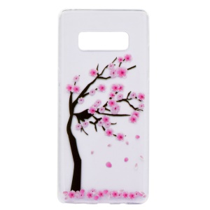 For Samsung Galaxy Note 8 SM-N950 Ultra Thin Pattern Printing TPU Phone Protection Shell - Peach Blossom