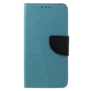 Cross Texture Leather Stand Case with Card Slots for Samsung Galaxy J5 (2017) EU Version / J5 Pro (2017) - Baby Blue