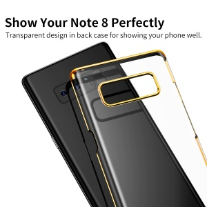BASEUS Glitter Series Plated PC Hard Phone Cover for Samsung Galaxy Note 8 N950 - Gold