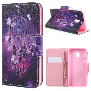 Pattern Printing Leather Wallet Case for Samsung Galaxy J3 (2017) EU Version / J3 Pro (2017) - Dream Catcher