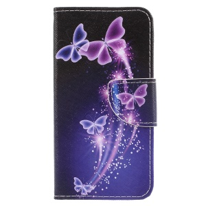 Patterned Leather Phone Cover for Samsung Galaxy J3 (2017) EU Version / J3 Pro (2017) - Beautiful Butterflies
