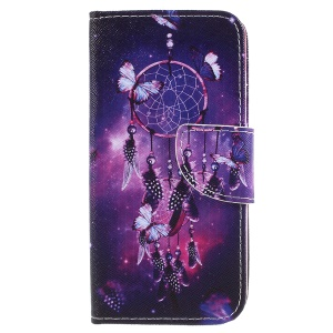 Pattern Printing Leather Wallet Shell for Samsung Galaxy J7 (2017) EU Version / J7 Pro (2017) - Dream Catcher