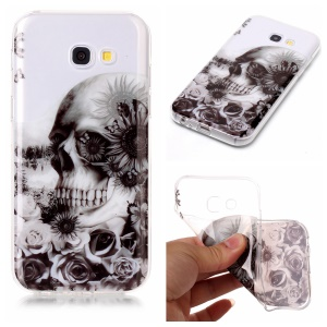 Pattern Printing IMD TPU Flexible Phone Accessory Cover for Samsung Galaxy A5 (2017) SM-A520 - Skull