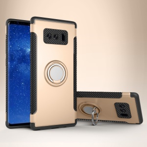 Armor PC TPU Combo Rotating Kickstand Mobile Case for Samsung Galaxy Note 8 N950 - Gold