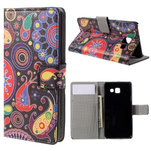 Wallet Leather Stand Case for Samsung Galaxy A3 SM-A310F (2016) - Paisley Flowers