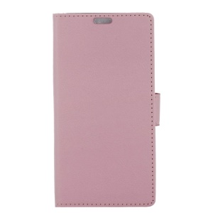 PU Leather Flip Stand Cell Phone Cover with Card Slots for Samsung Galaxy A8 (2018) - Pink